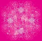Bloemen roze en wit ontwerp Stock Fotografie