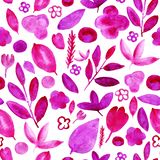 Bloemen roze patroon op wit royalty-vrije illustratie