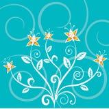 Bloemen samenvatting stock illustratie