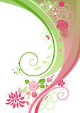 Bloemen samenvatting royalty-vrije illustratie