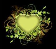 Bloemen samenvatting met hart Stock Afbeelding