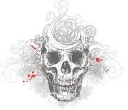 Bloemen schedelillustratie Royalty-vrije Stock Foto