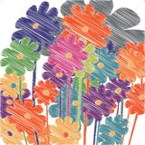 Bloemen schets Stock Foto