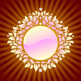 Bloemen schild als achtergrond Royalty-vrije Stock Foto