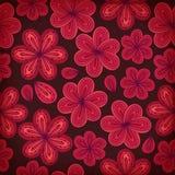bloemen sier naadloos patroon Decoratieve bloemenachtergrond Eindeloze overladen textuur voor drukken, ambachten, textiel Stock Afbeeldingen