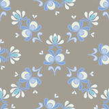 Bloemen sier naadloos vectorpatroon Stock Fotografie