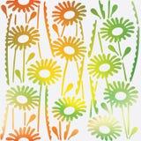 Bloemen siertextuur met de bloemenlente Naadloos patroon Royalty-vrije Stock Foto
