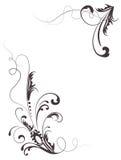 Bloemen silhouet Stock Fotografie