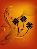 Bloemen Silhouet Stock Foto's