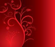 Bloemen silhouet sexy meisje, vector Stock Fotografie