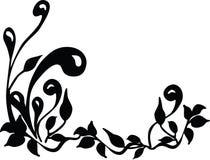 Bloemen silhouet. Vector. Stock Foto