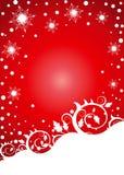 Bloemen sneeuwvlokkenachtergrond Royalty-vrije Stock Fotografie