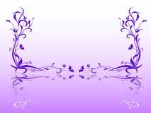 Bloemen spiegel Royalty-vrije Stock Afbeeldingen