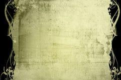 Bloemen stijl oud document texturenframe Stock Foto's