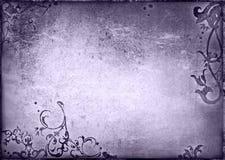 Bloemen stijl oud document texturenframe Stock Foto