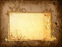 Bloemen stijl oud document texturenframe Stock Afbeeldingen