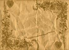 Bloemen stijl oude document texturenachtergrond Stock Afbeelding