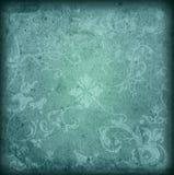 Bloemen stijl oude document texturenachtergrond stock fotografie