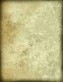 Bloemen stijl oude document texturenachtergrond Royalty-vrije Stock Afbeelding