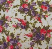 Bloemen Stof Royalty-vrije Stock Afbeelding