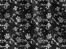 Bloemen stoffentextuur Stock Afbeeldingen