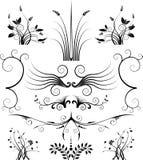 Bloemen Symmetrie stock illustratie