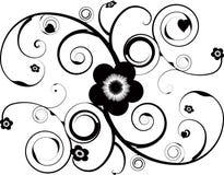Bloemen tatoegering Royalty-vrije Stock Fotografie