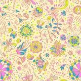 Bloemen teder naadloos kleurenpatroon Royalty-vrije Stock Afbeeldingen