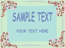 Bloemen tekstkaart Royalty-vrije Stock Foto's
