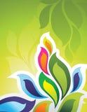 Bloemen texturenillustratie Royalty-vrije Stock Fotografie