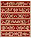 Bloemen traditionele Keltische knoopornamenten Stock Fotografie