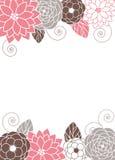 Bloemen uitnodigingskaart Stock Foto