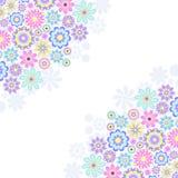 Bloemen uitnodigingskaart Royalty-vrije Stock Afbeeldingen