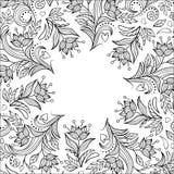 Bloemen uitnodigingskaart Royalty-vrije Stock Afbeelding