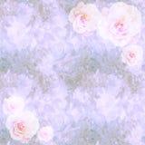 Bloemen uitstekend behang met rozen Royalty-vrije Stock Foto's