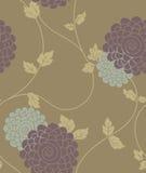Bloemen uitstekend naadloos patroon Stock Fotografie