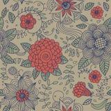 Bloemen uitstekend naadloos patroon Royalty-vrije Stock Afbeelding