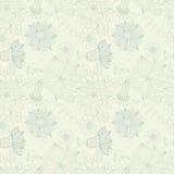 Bloemen uitstekend naadloos patroon Royalty-vrije Stock Fotografie