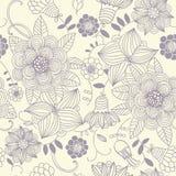 Bloemen uitstekend naadloos patroon Stock Afbeeldingen