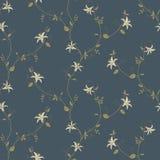Bloemen uitstekend naadloos patroon Stock Foto's