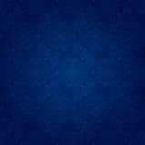 Bloemen uitstekend naadloos patroon op een blauwe backgrou Stock Foto's