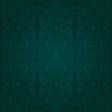 Bloemen uitstekend naadloos patroon op een groene achtergrond Stock Afbeeldingen