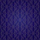 Bloemen uitstekend naadloos patroon op violette achtergrond Royalty-vrije Stock Foto's