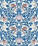 Bloemen uitstekend naadloos patroon voor retro behang enchanted vector illustratie