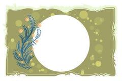 Bloemen uitstekend vectormalplaatje als achtergrond stock illustratie