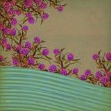 Bloemen Uitstekende Achtergrond Stock Afbeelding