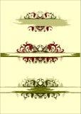 Bloemen uitstekende elementen Royalty-vrije Stock Foto