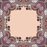 Bloemen uitstekende illustratie frame Stock Afbeeldingen