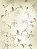 Bloemen Uitstekende Vector Royalty-vrije Stock Foto's