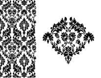 Bloemen uitstekende vector als achtergrond Royalty-vrije Stock Fotografie